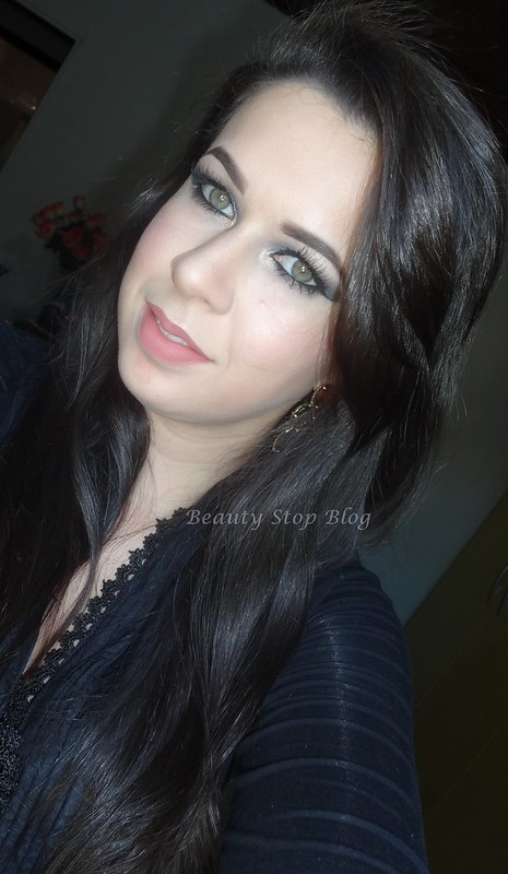 tutorial maquiagem verde com brilho azul balada delineado chic beauty stop blog bruna reis rosto
