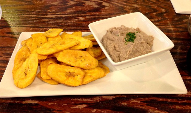 Black eyed pea hummus and plantain chips Vital Jersey Bites