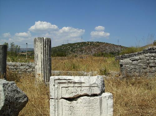 A detail from Duklja (roman Doclea) near Podgorica in Montenegro