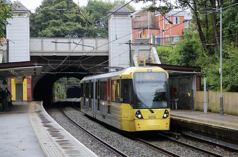 Manchester Metrolink Tram 3019, Heaton Park, 6th. September 2014.