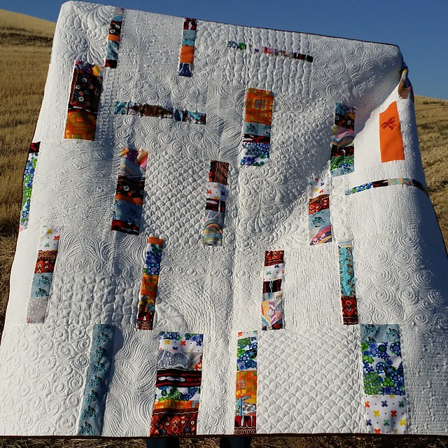 Sending away this beauty tomorrow.   Thanks to @orchidowlquilts for the amazing quilting.
