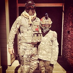 Yesterday's Father/Son activity. #airsoft