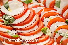 Close up of Caprese Salad in Baltimore, Maryland,…