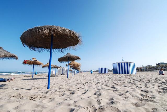 Beaches of Valencia Spain