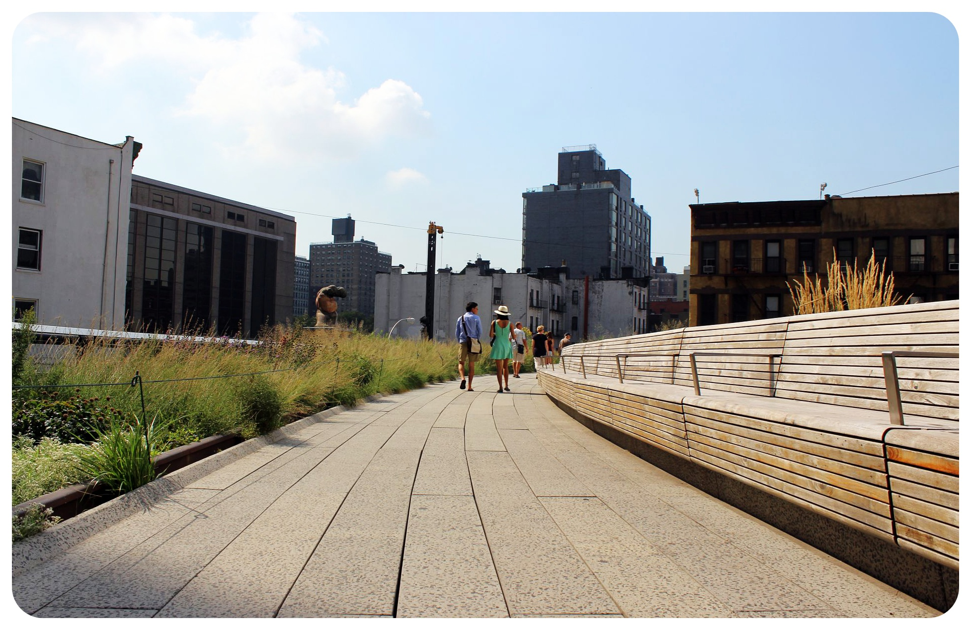 high line in the morning