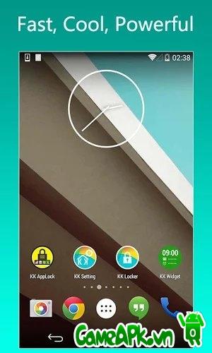 KK Launcher Prime(KitKat,L launcher) v4.99 cho Android