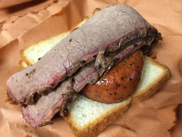 Brisket & HC hot link - Hill Country Barbecue