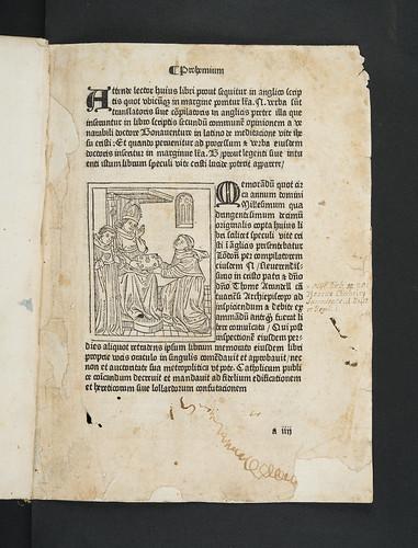 Woodcut illustration and annotations in Bonaventura, S. [pseudo-]: Meditationes vitae Christi [English]