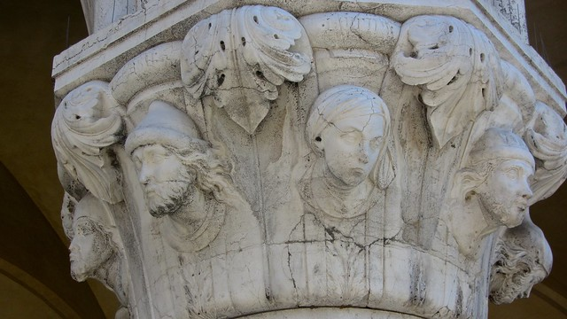 Amazing Heads on the Ducal Palace