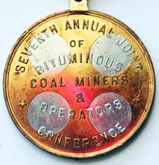 Bituminous Coal Miners medal obverse