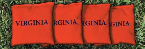 VIRGINIA CAVALIERS WAHOOS ORANGE CORNHOLE BAGS