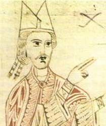 Pope Gregory VII from 11th century manuscript