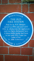 Photo of The Old Fire Station, Warminster blue plaque