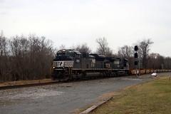 NS2743 leads train 24Q westbound, Marshall, VA