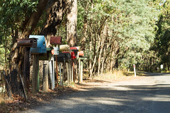 "Original and vintage mailboxes in the middle of nowhere. Where are the houses ? ""Near"" Lauriston, Victoria, Australia"
