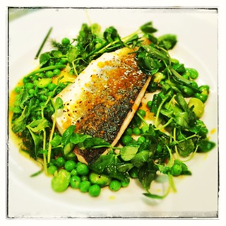 Seabass with herbs