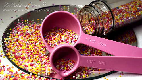 A spoonful of sprinkles