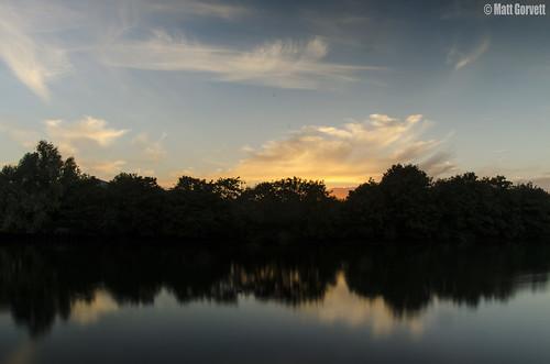 longexposure blue trees sunset shadow sky orange black reflection water silhouette yellow clouds river grey evening nikon dslr southampton riversidepark itchen bitternepark 18105mm d5100 nikond5100