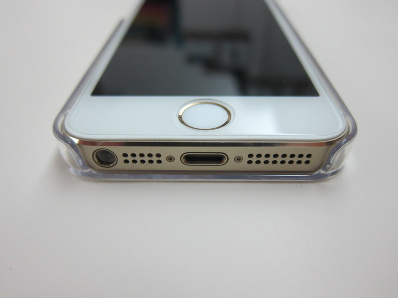 Snugg iPhone 5s Ultra Thin Clear Case - With iPhone 5s (Bottom)
