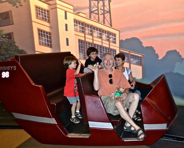Chocolate tour trains - Hershey World Hershey PA USA