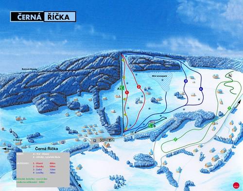 Desná - Černá Říčka - mapa sjezdovek