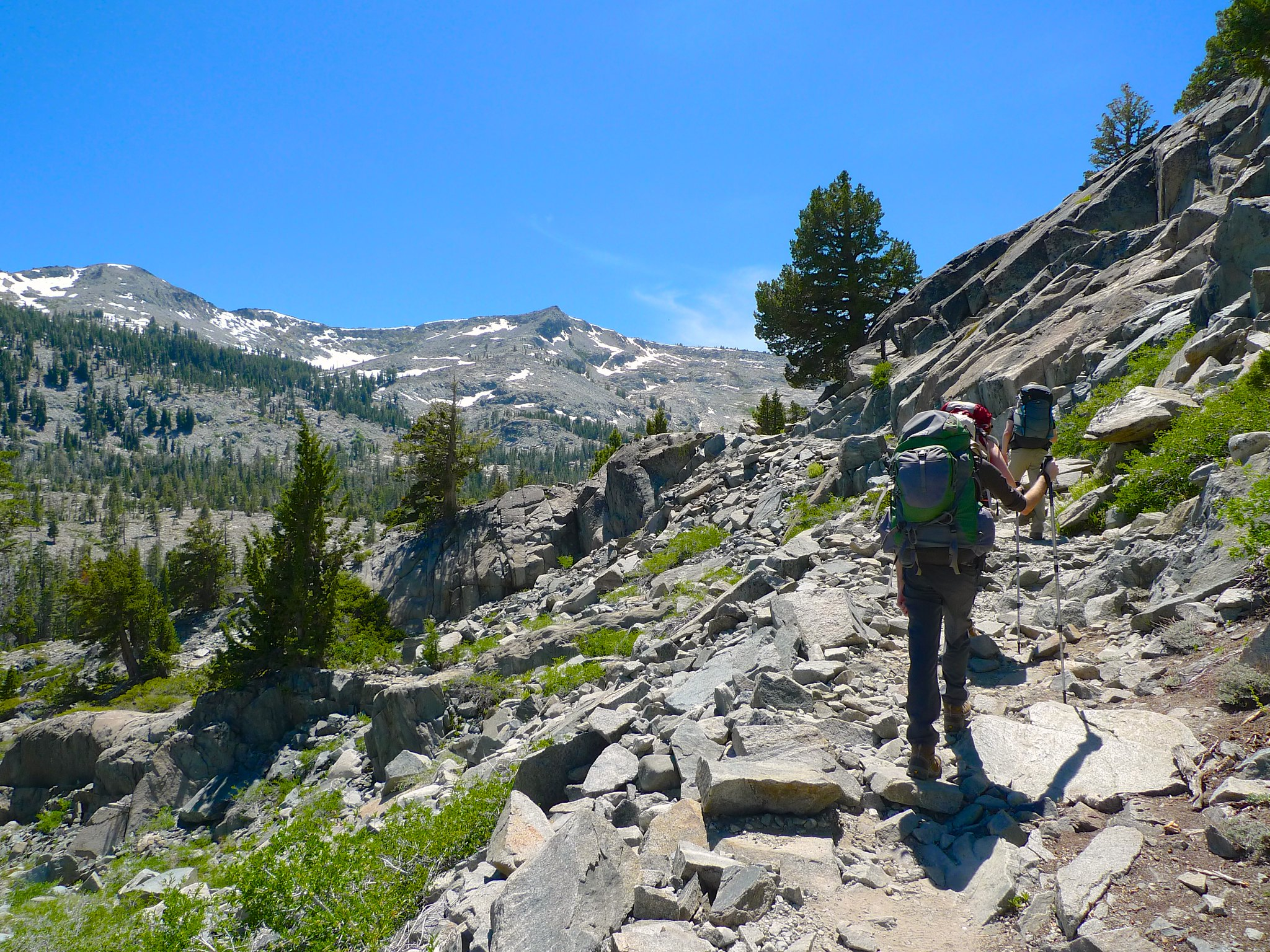 Starting up the PCT towards Lake Aloha