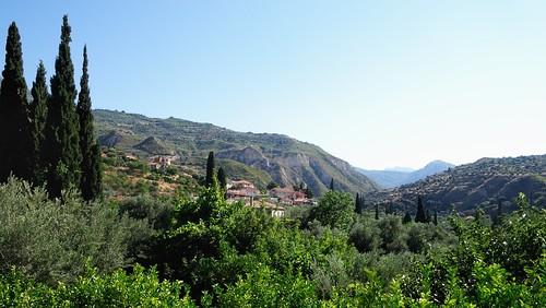 trees bomen groen village hills greece dorp landschap griekenland lagen kallithea peleponessos nikonp7100