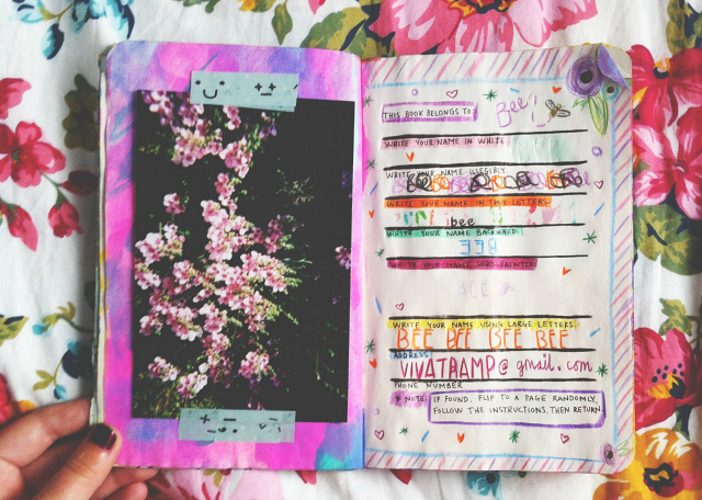 wreck this journal name page vivatramp lifestyle book blog uk