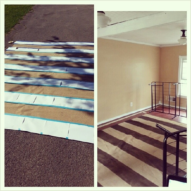 #Rug striping success. #diy #remodel