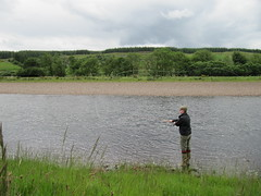 After very brief instruction, Thomas quick to engage in overhead and roll casting without any problem.