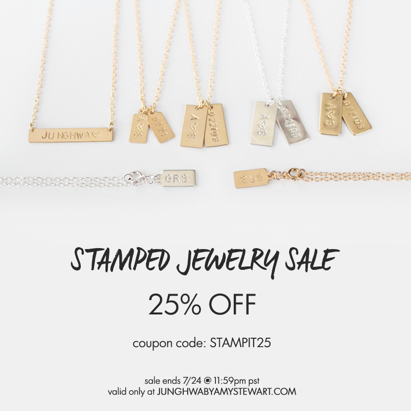 Stamped Jewelry Sale