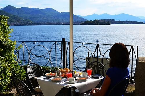 Breakfast on Isola dei Pescatori, Lake Maggiore, Italy