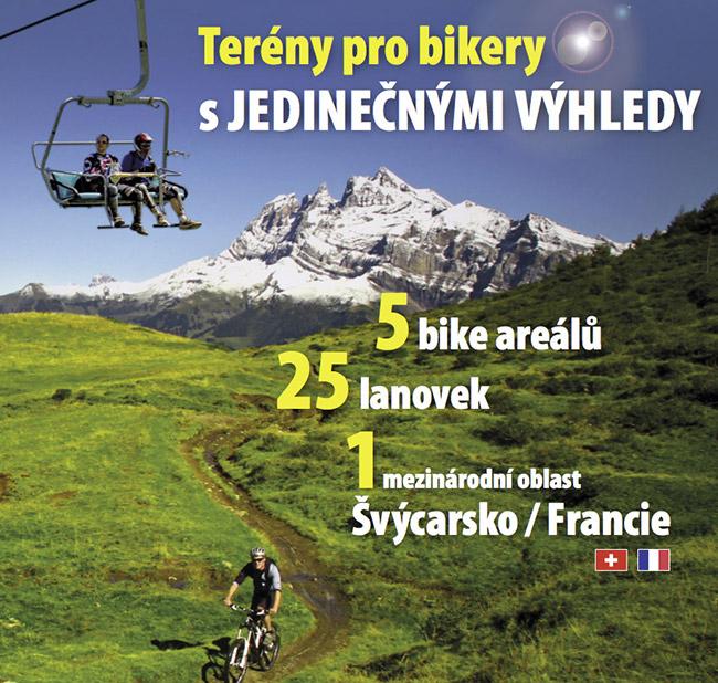 Ráj bikerů vPortes du Soleil