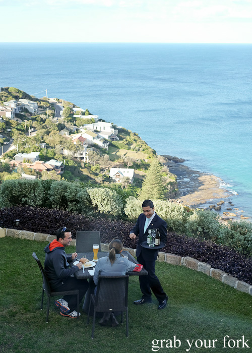 Lunchtime diners on the terrace at Jonah's, Whale Beach