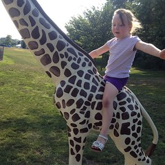 She's the #queen of the #world. On a #giraffe. #goof
