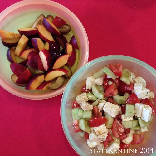 StattKantine 22.07.14 - Griechischer Salat, Obst