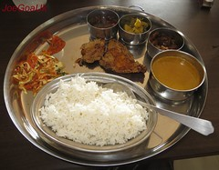Fish Curry Rice Thali
