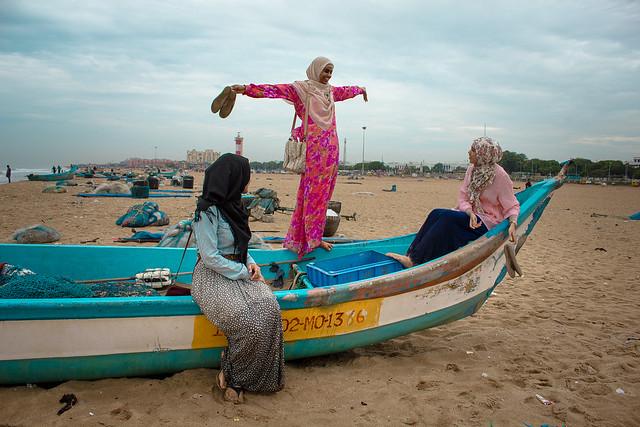 Marina Beach Girl Girls at Marina Beach in