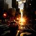 3rd av. in New York City during sunset by marco18678