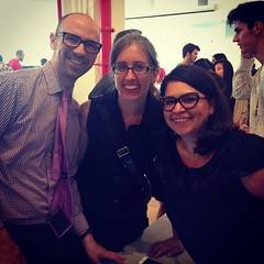 @mexikansan & @jensimmons stopped by to support #UXDi student @iampaulacano. Thank you!