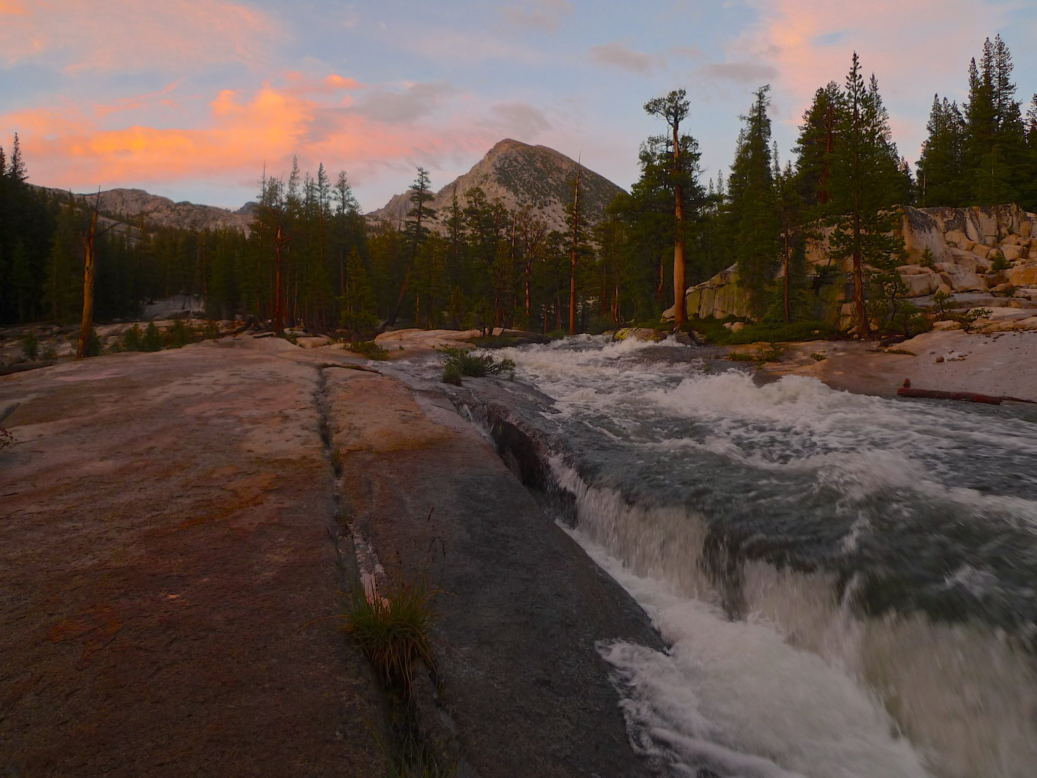 Sunset in the Lyell Fork of the Merced