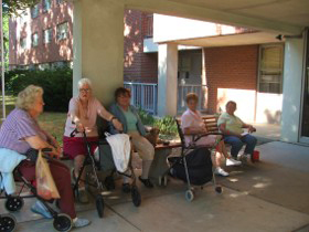 A tight-knit community resides at St. Mary's Roland View Towers