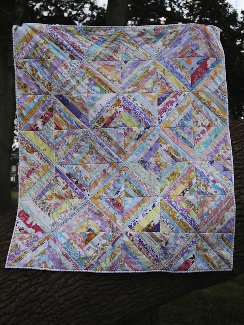 Vintage Sheet String Quilt