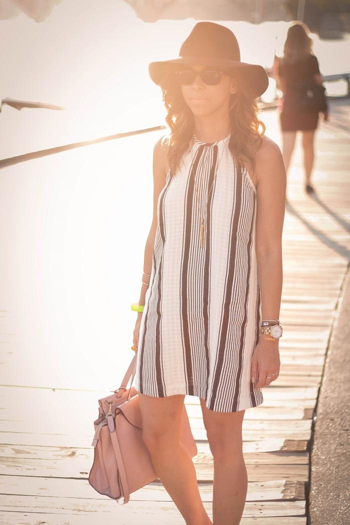 va darling. dc blogger. virginia personal style blogger. swing dress. georgetown waterfront. felt fedora hat. joie sandals. summer style 14
