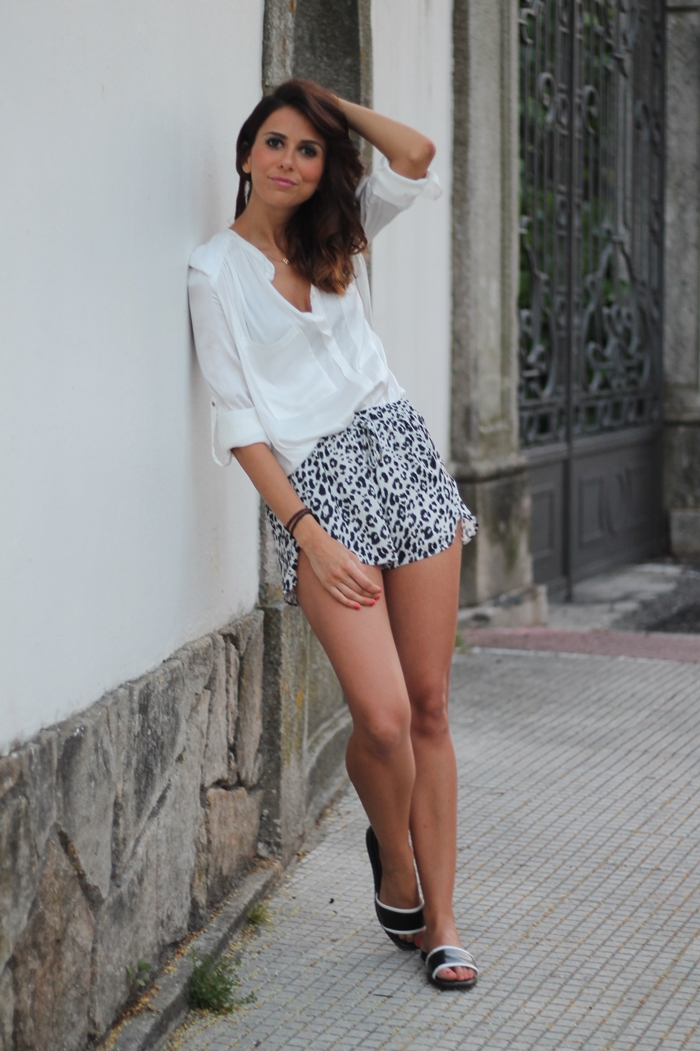 short leopardo H&M