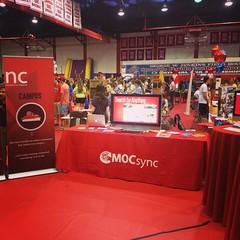 MocSync booth at Blast Off 2014.