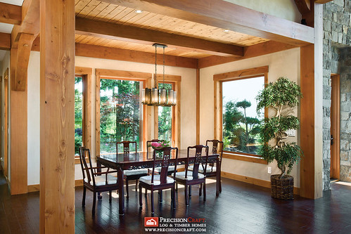 Dining Room - Washington Timber Frame Home