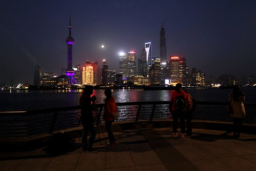 Looking across the Huangpu River to the Pudong skyline