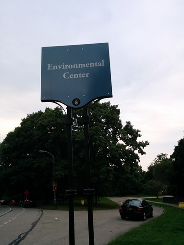 Road sign for Frick Environmental Center