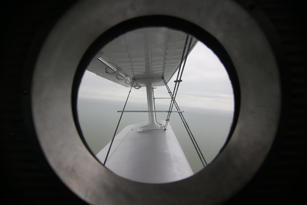 Antonov An-2 window seat above North Sea